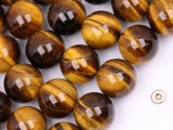 Yellow Tiger Eye AB beads 16mm smooth(2)