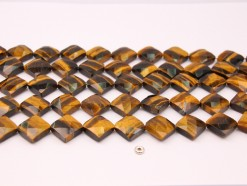 Yellow Tiger Eye AB+ lozenge 15mm faceted(1)