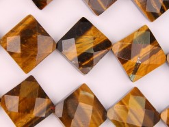Yellow Tiger Eye AB+ lozenge 15mm faceted(2)