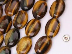 Yellow Tiger Eye AB+ oval 12x16mm smooth(2)