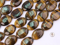 Yellow Tiger Eye AB oval 13x18mm smooth(2)