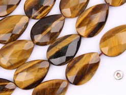 Yellow Tiger Eye AB tear drop 16x25mm faceted(2)