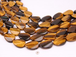 Yellow Tiger Eye AB twisted oval 18x25mm smooth(1)