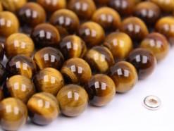 Yellow Tiger Eye beads 10mm smooth(2)