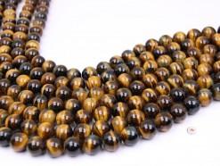 Yellow Tiger Eye beads 12mm smooth(1)