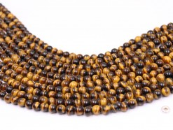 Yellow Tiger Eye beads 6mm smooth(1)