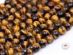 Yellow Tiger Eye beads 6mm smooth(2)
