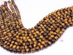 Yellow Tiger Eye beads 8mm smooth(1)
