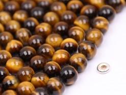 Yellow Tiger Eye beads 8mm smooth(2)