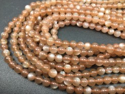 brown moonstone beads 6mm smooth_3